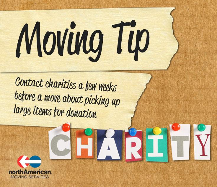 Moving Tip Monday: Schedule Pick Ups from Charities